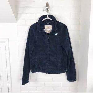 {Hollister} Fuzzy Fleece Zip Up Jacket